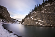 Alberta Rocky Mountains Photos - Winter Calm by Evelina Kremsdorf