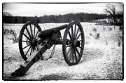 Artillery Gun Framed Prints - Winter Campaign Framed Print by John Rizzuto