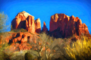 Arizona Digital Art Originals - Winter Cathederal by Jon Burch Photography