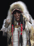 Americans Mixed Media - Winter Chief by Daniel Hagerman