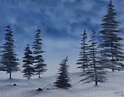 Salt Air Paintings - Winter Chill by Jennifer Muller