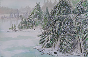 Winter Chill St Lawrence River Print by Robert P Hedden