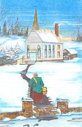 David Gallagher - Winter Church Scene