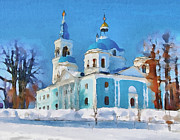 Siberia Digital Art - Winter Church by Yury Malkov