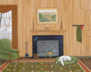 Greyhound Prints - Winter Comforts Print by Phyllis Andrews