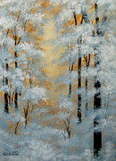 Serenity Scenes Landscapes Paintings - Winter  Contrasts  by Shasta Eone