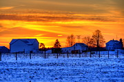 David Dufresne - Winter Country Sunset