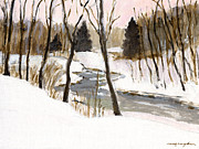 J Reifsnyder Art - Winter creek by J Reifsnyder