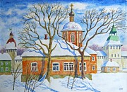 Russia Painting Originals - Winter Day by Igor Kir