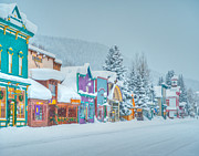 Business Cartoon Art - Winter Daybreak - Crested Butte by Dusty Demerson