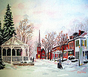 Zelma Hensel Posters - Winter Days of Old Poster by Zelma Hensel
