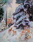 Norma Boeckler - Winter Deer Scene