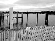 Wood Pylons Photos - Winter Docks in Saugatuck Michigan by Kevin Calkins