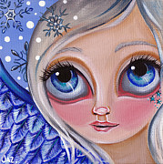 Blue Eyed Girl Prints - Winter Dreaming Print by Jaz Higgins