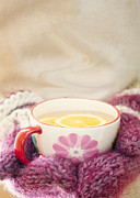 Hand-knitted Photos - Winter Drink by Juli Scalzi