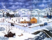 Winter Paintings - Winter Evening by Linda Mears