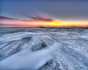Drifting Snow Prints - Winter Extreme in HDR I Print by Ian McGregor