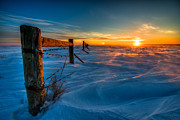 Drifting Snow Prints - Winter Extreme in HDR II Print by Ian McGregor
