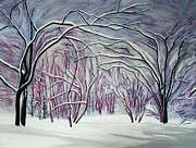 Snowstorm Paintings - Winter Fairies by Barbara McMahon