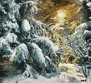 Winter Paintings - Winter Fairytale by Dragica  Micki Fortuna