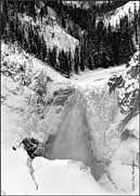 Winter Photos Photo Framed Prints - Winter Falls on the Yellowstone Framed Print by Kae Cheatham