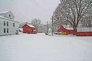 East Hartford Prints - Winter Farm Print by Andrea Galiffi