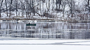 Steven Ralser Prints - Winter fishing Print by Steven Ralser