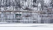 Winter Fishing Print by Steven Ralser