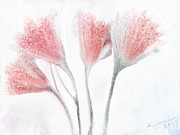 Dreamy Expression Posters - Winter Flowers Poster by Kume Bryant