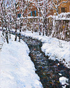 Steven Boone Art - Winter Flowing by Steven Boone
