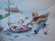 Winter Fun Paintings - Winter Friends by Barbara McGeachen