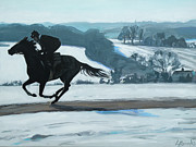 Winter Gallops Print by Leigh Banks