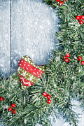 Christmas Natural Posters - Winter Garland Poster by Christopher and Amanda Elwell