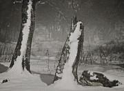 Winter Gate Print by Odd Jeppesen