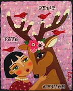 LuLu Mypinkturtle - Winter Girl with Deer...