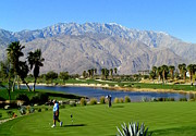 Country In Winter Prints - Winter Golf Palm Springs Print by Randall Weidner