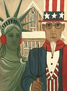 United States Government Painting Posters - Winter Gothic Poster by Aimee Vance