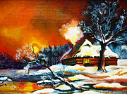 Pathway Paintings - Winter Harmony by Ryszard Sleczka