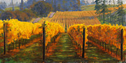 Wine Vineyard Posters - Winter Hill Vineyard Poster by Michael Orwick