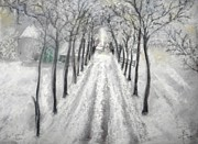 Famous Pastels Originals - Winter by Igor Kotnik