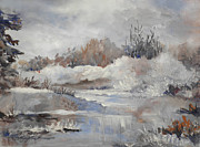 Nature Scene Paintings - Winter Impressions by Suzanne Schaefer