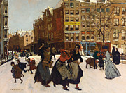Winter In Amsterdam Print by Georg Hendrik Breitner