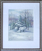 Winter Scenes Pastels - Winter in Cumberland MD by Nancy Heindl