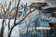 January Paintings - Winter in Inotesti I by Maia Oprea