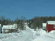 Winter Roads Photos - Winter in Maine by Brenda Ketch