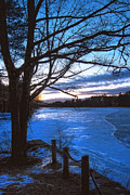 White River Scene Posters - Winter in New Hampshire Poster by Joann Vitali