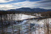 Saco River Framed Prints - Winter in North Conway Framed Print by Eric Gendron