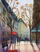 Bluesky Painting Prints - Winter in Paris Print by Lior Ohayon