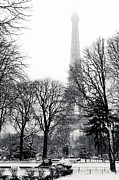 Paysage D Posters - Winter in Paris Poster by Philippe LEJEANVRE
