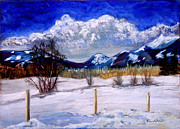 Mountain Valley Pastels - Winter in the Selle Valley by Carol Kovalchuk